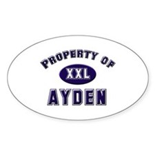 Property of ayden Oval Decal