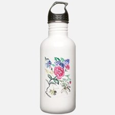 Flowers and Butterfly Water Bottle