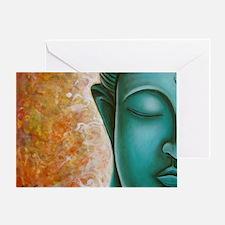 Aqua Buddha Greeting Card
