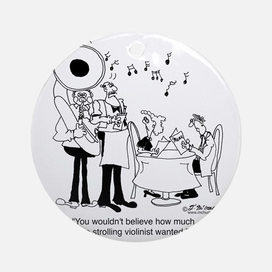 5758_tuba_cartoon_JA Round Ornament