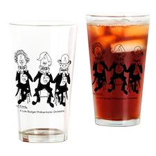 4227_orchestra_cartoon Drinking Glass