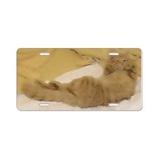 Curled Paws-WC-M Aluminum License Plate