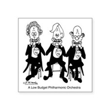 """4227_orchestra_cartoon Square Sticker 3"""" x 3"""""""