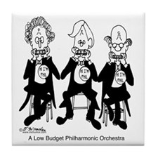 4227_orchestra_cartoon Tile Coaster