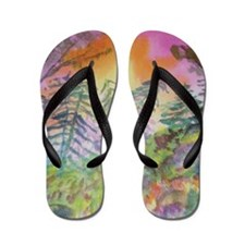 Colorful View Flip Flops