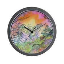 Colorful View Wall Clock