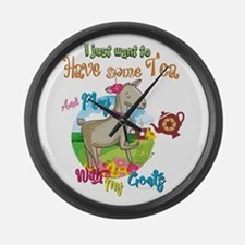GOAT | Just Want to Have Some Tea Large Wall Clock