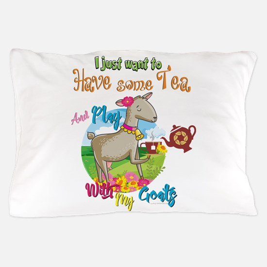 GOAT | Just Want to Have Some Tea Play Pillow Case