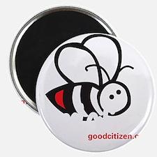 Front Bee bue tee shirt Magnet