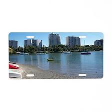 Boats in Sarasota Bay Aluminum License Plate