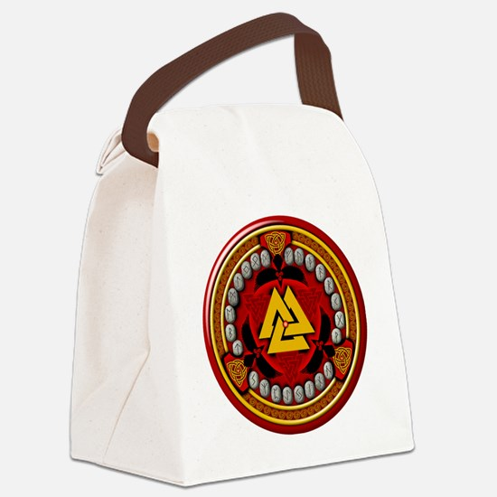 Red Rune Set Canvas Lunch Bag