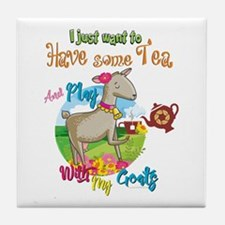 GOAT | Just Want to Have Some Tea Pla Tile Coaster
