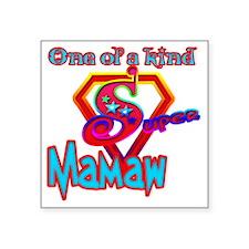 """SUPER MAMAW Square Sticker 3"""" x 3"""""""