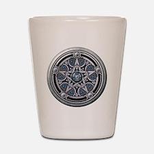 Feminine Silver Pentacle Shot Glass