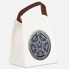 Feminine Silver Pentacle Canvas Lunch Bag