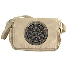 Feminine Silver Pentacle Messenger Bag