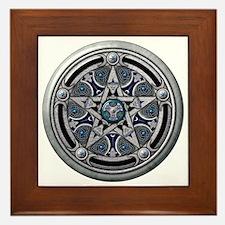 Feminine Silver Pentacle Framed Tile