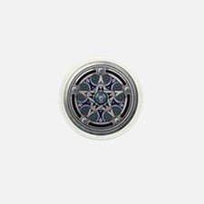Feminine Silver Pentacle Mini Button