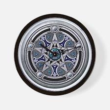 Feminine Silver Pentacle Wall Clock