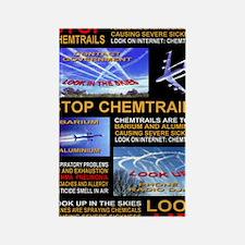 chemtrails poster Rectangle Magnet