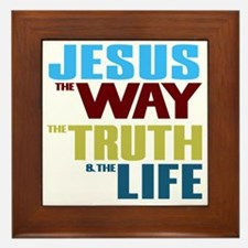 Jesus The Way The Truth & The Life Framed Tile