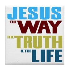 Jesus The Way The Truth & The Lif Tile Coaster