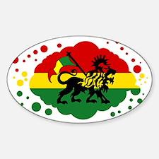 Rasta Lion of Jah Decal
