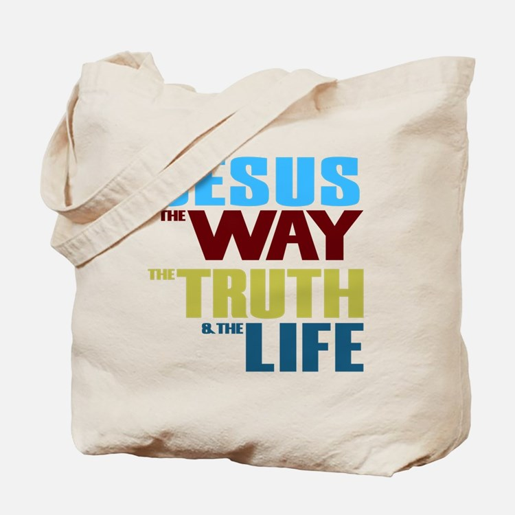 Jesus The Way The Truth & The Life Tote Bag
