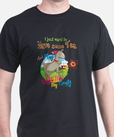 GOAT | Just Want to Have Some Tea Pla T-Shirt