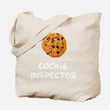 Cookie Inspector White Tote Bag