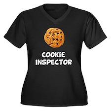 Cookie Inspe Women's Plus Size Dark V-Neck T-Shirt