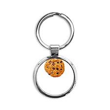 Cookie Inspector White Round Keychain
