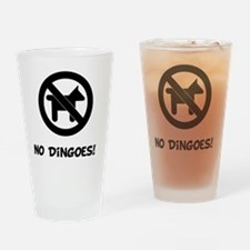 No Dingoes Black Drinking Glass