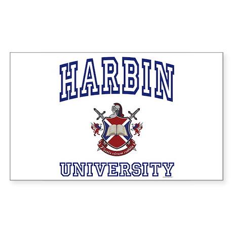 HARBIN University Rectangle Sticker