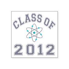 """CO2012 Atom Gray Square Sticker 3"""" x 3"""""""