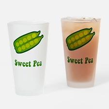Sweet Pea Green Drinking Glass