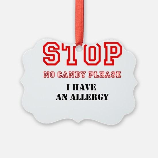 Allergy Warning Ornament
