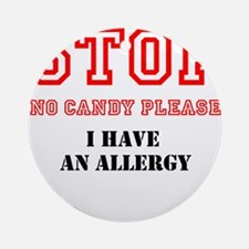 Allergy Warning Ornament (Round)