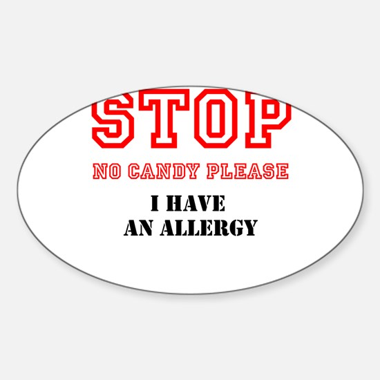 Allergy Warning Decal