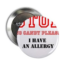 """Allergy Warning 2.25"""" Button (100 pack)"""