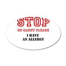 Allergy Warning Wall Decal