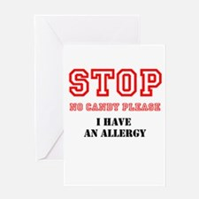 Allergy Warning Greeting Cards