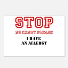 Allergy Warning Postcards (Package of 8)