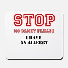 Allergy Warning Mousepad