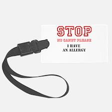 Allergy Warning Luggage Tag