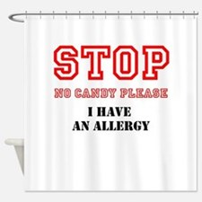 Allergy Warning Shower Curtain