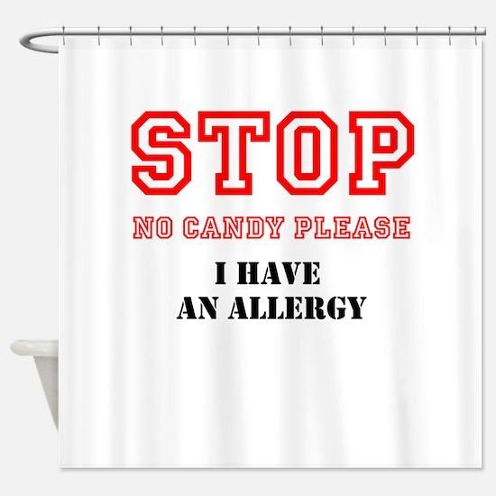 Allergy Warning Shower Curtain