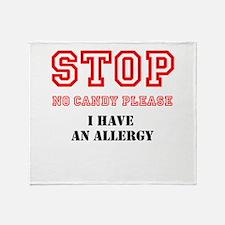 Allergy Warning Throw Blanket
