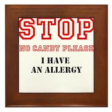 Allergy Warning Framed Tile