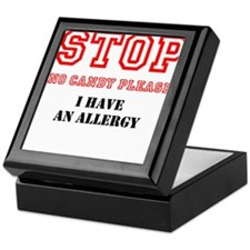 Allergy Warning Keepsake Box